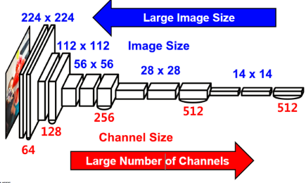 VGG-16 : Variation Through Layers